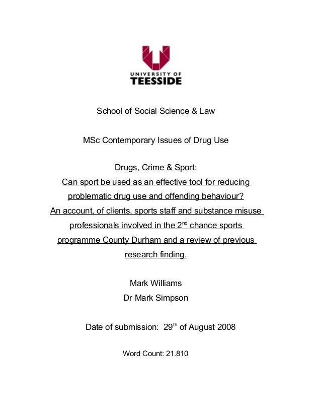 teesside university dissertation word count