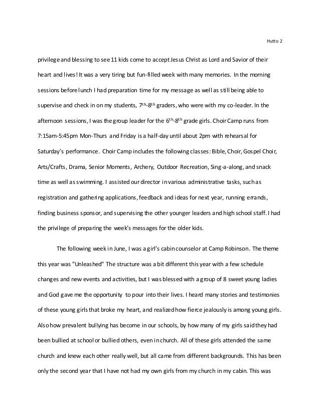 Final Report Reflection Paper