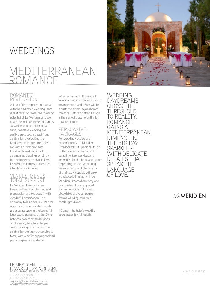 WEDDINGSMEDITERRANEANROMANCEROMANTIC                                 Whether in one of the elegant        WEDDINGREVELATIO...