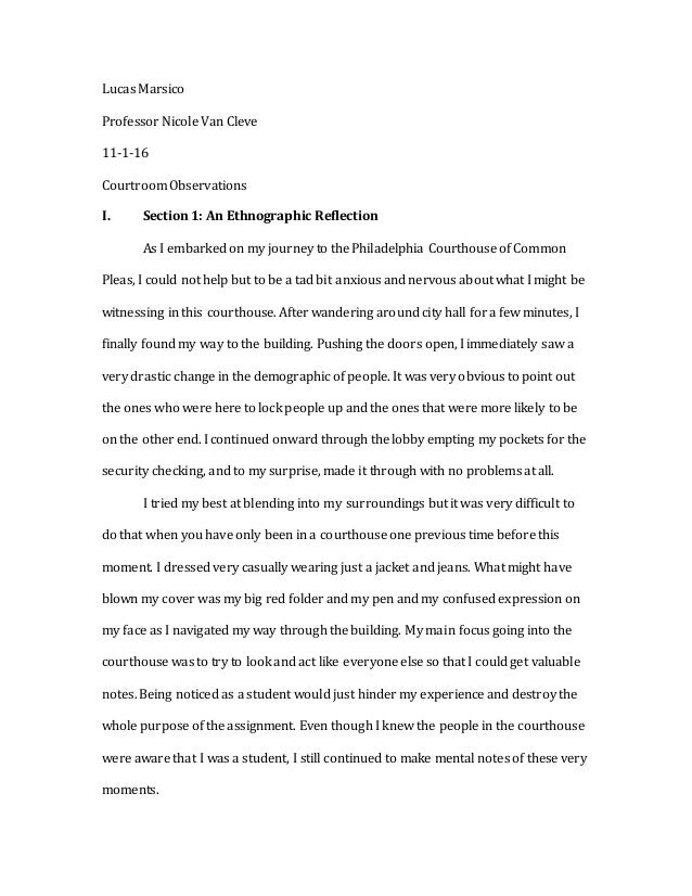 English Essay Friendship Court Watching Essay  Bullying Essay Thesis also Health And Fitness Essays Ethnographic Essay  Barcafontanacountryinncom Business Essays