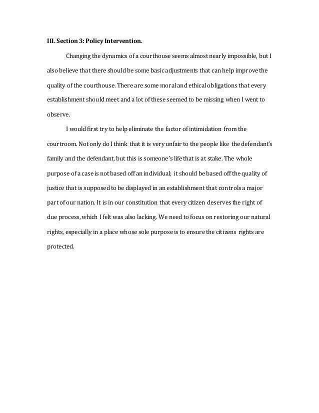 The courtroom and the courthouse essay
