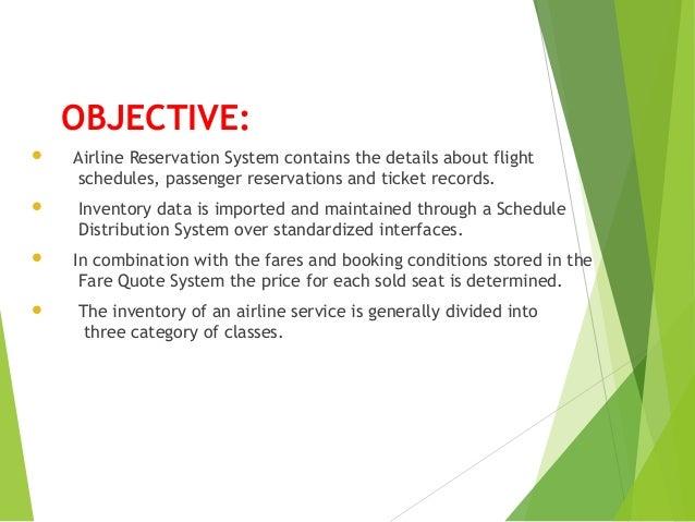Videcom Airline Reservation System