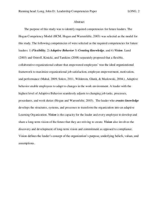 running head competency model essay Running head: improving ni competencies 1 utilizing tiger   summary   figure 1: tiger ni competency model (tiger, 2009.