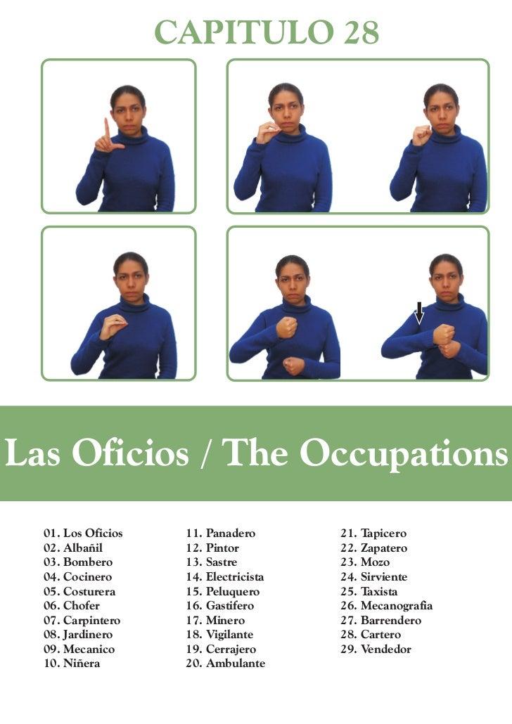 CAPITULO 28Las Oficios / The Occupations  01. Los Oficios    11. Panadero       21. Tapicero  02. Albañil        12. Pinto...