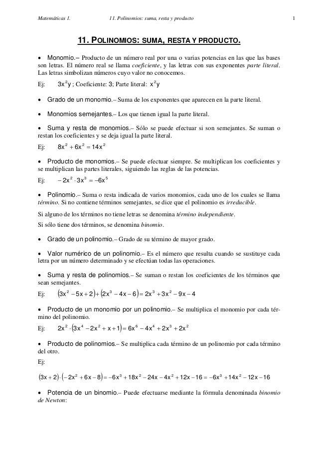 028 matemáticas 4º eso polinomios apuntes y problemasunidad2