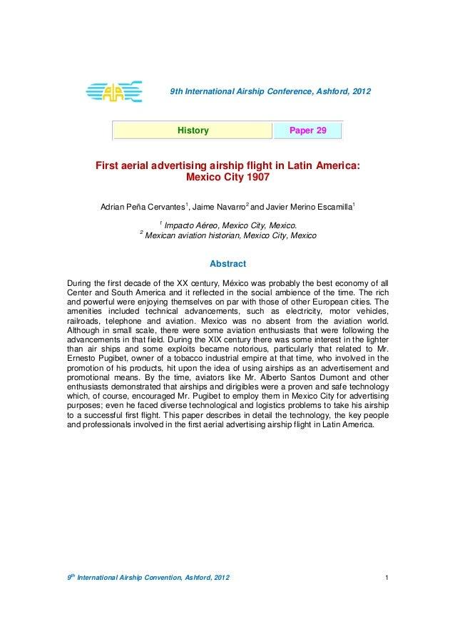 9 th International Airship Convention, Ashford, 2012 1 9th International Airship Conference, Ashford, 2012 History Paper 2...