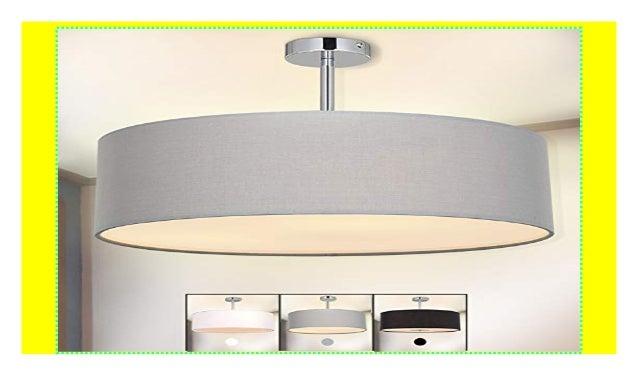 Deckenleuchte Sparksor Stoff Deckenlampe Grau Rund