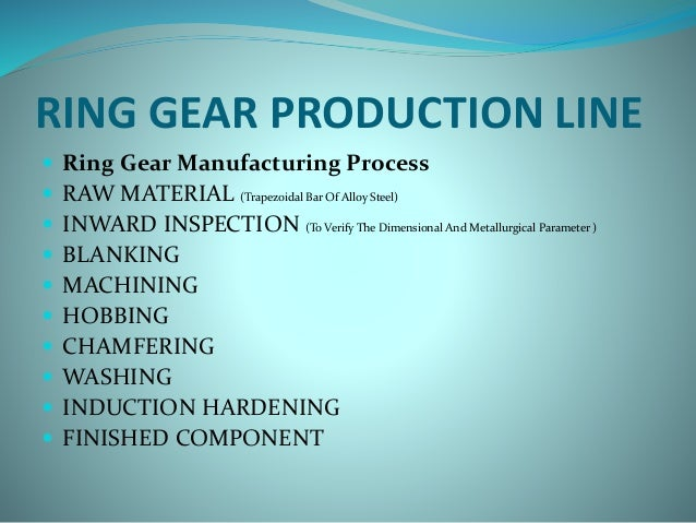 ring gear production