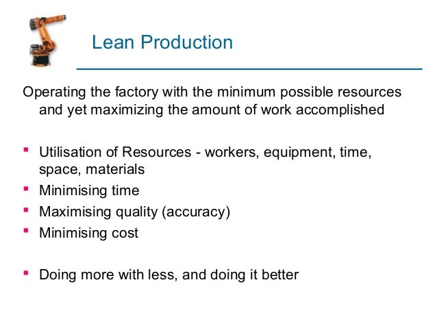 ... 30. Programs Associated With Lean Production ...