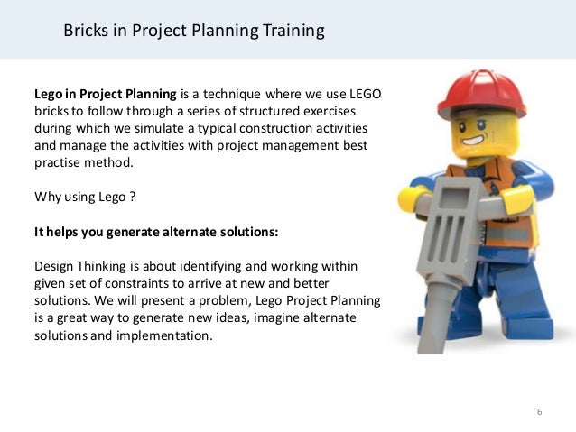 Project Planning And Control Training With Lego