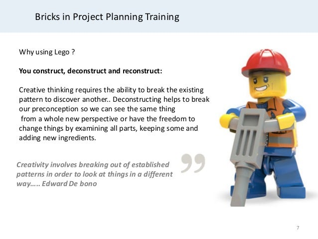 Project planning and control training with lego – Project Planning