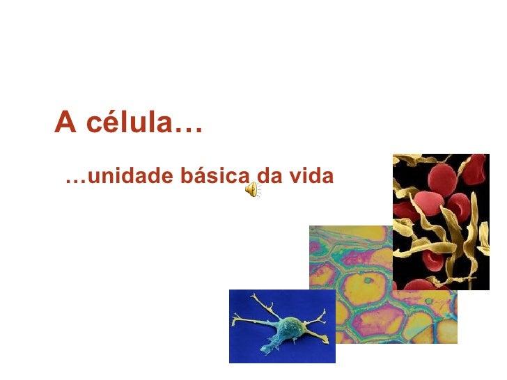 A célula… … unidade básica da vida