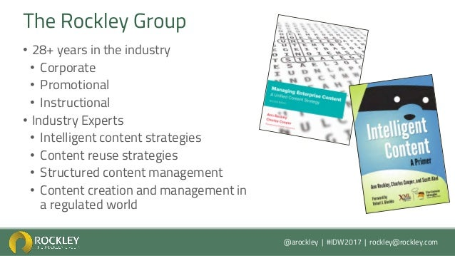 Developing A Unified Content Strategy with Ann Rockley  Slide 3