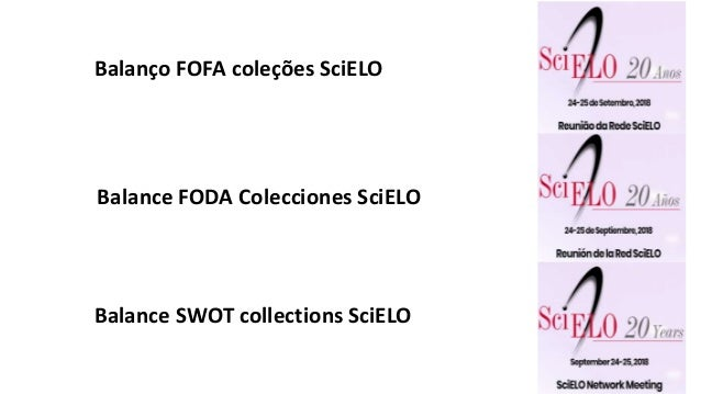 Balance FODA Colecciones SciELO Balanço FOFA coleções SciELO Balance SWOT collections SciELO
