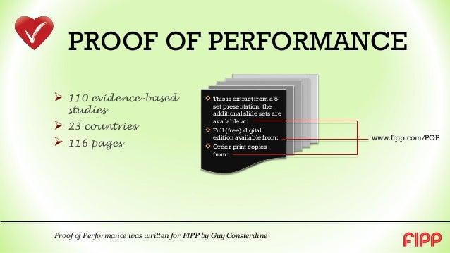 Pesquisa Proof of Performance Slide 2