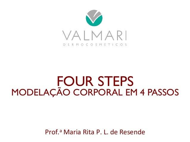 FOUR STEPS  MODELAÇÃO CORPORAL EM 4 PASSOS  Prof.a  Maria  Rita  P.  L.  de  Resende