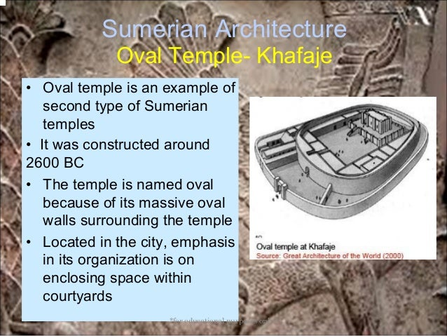 the oval temple at khafaje A large number of statues were discovered in temples at the sites of tell asmar,  khafaje, and tell agrab close to the diyala river, a major tributary of the tigris in .