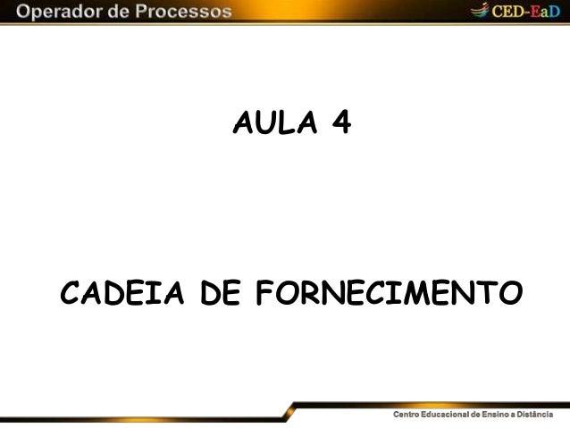AULA 4 CADEIA DE FORNECIMENTO
