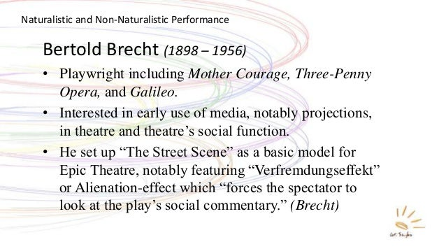 """bertolt brecht alienation effect essay In the same year in which brecht published his essay on alienation  brecht, bertolt """"alienation  brecht characterizes the alienation effect as the."""