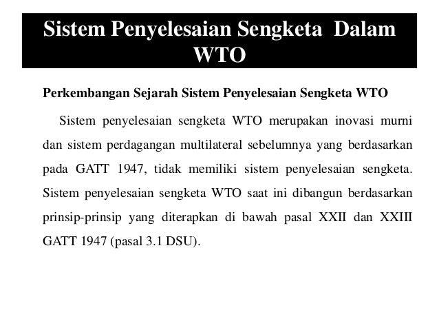 penyelesaian sistem perdagangan