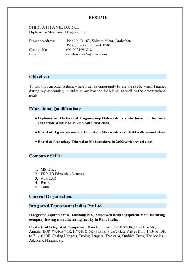 2 Resume For Civil Engineer Freshers - Download Now.