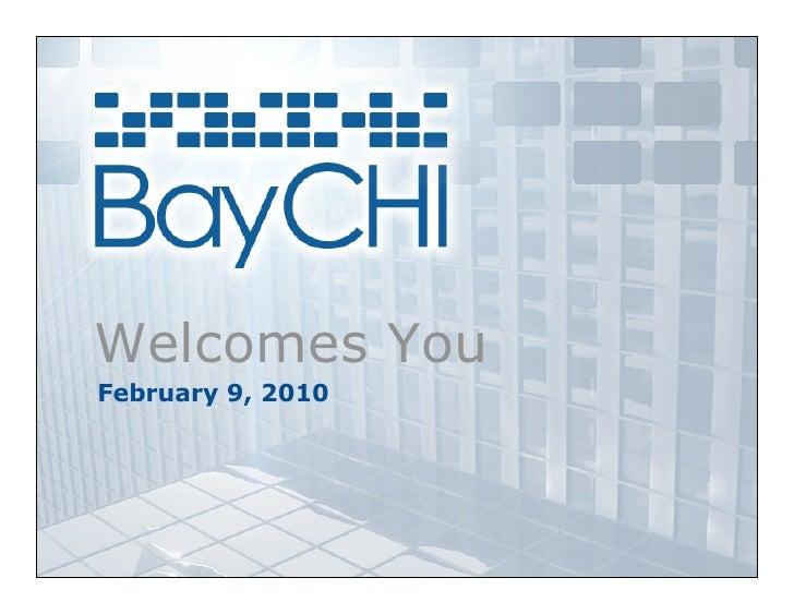 Welcomes You February 9, 2010