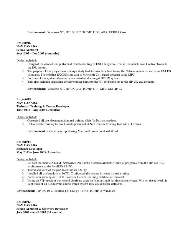 10 - Computer Science Resume Canada