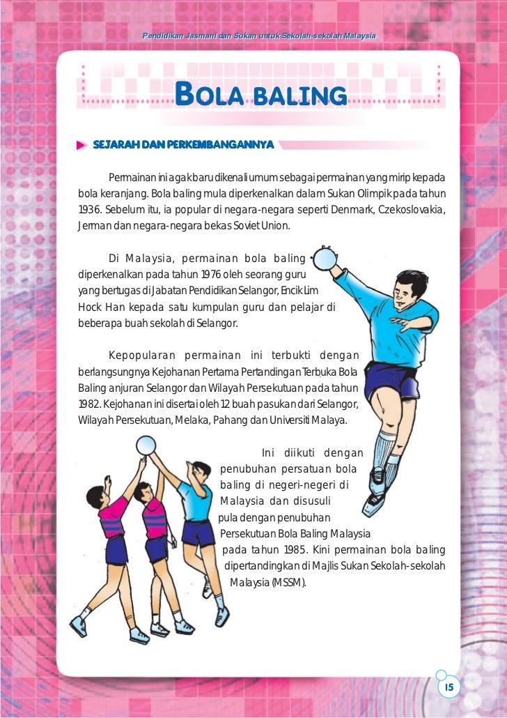 Pendidikan Jasmani dan Sukan untuk Sekolah-sekolah Malaysia                      BOLA BALING   SEJARAH DAN PERKEMBANGANNYA...