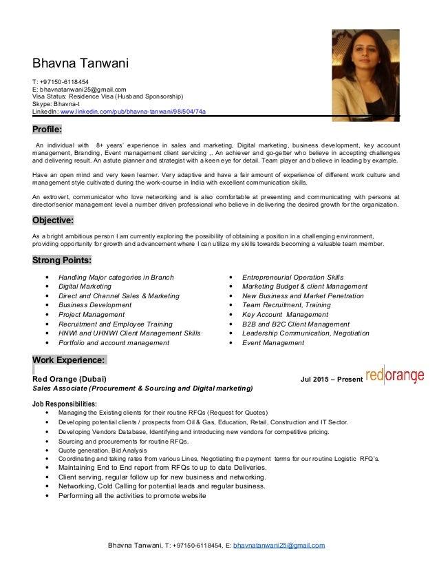 visa status in resume