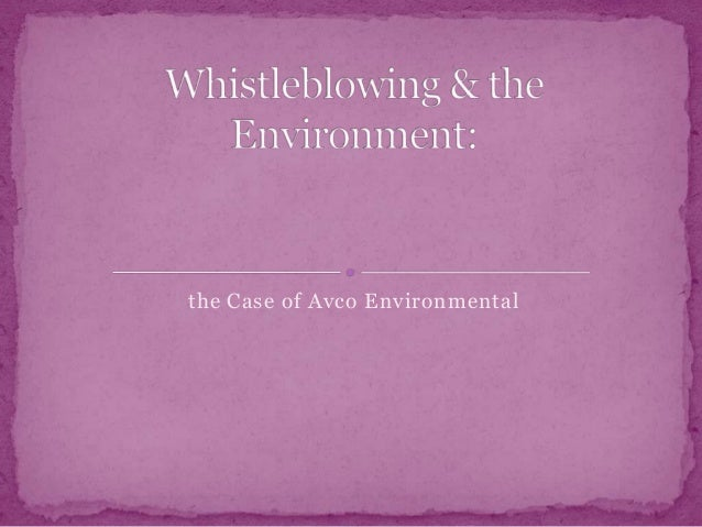 the Case of Avco Environmental