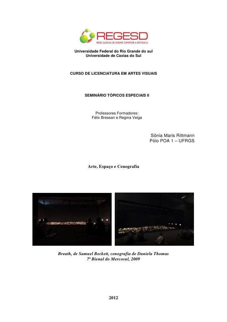 Universidade Federal do Rio Grande do sul              Universidade de Caxias do Sul     CURSO DE LICENCIATURA EM ARTES VI...