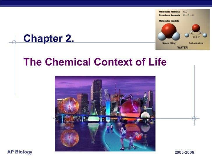 Chapter 2. The Chemical Context of Life 2005-2006