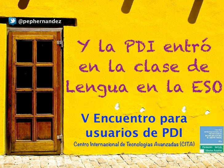 @pephernandez                 Y la PDI entró                 en la clase de                Lengua en la ESO               ...