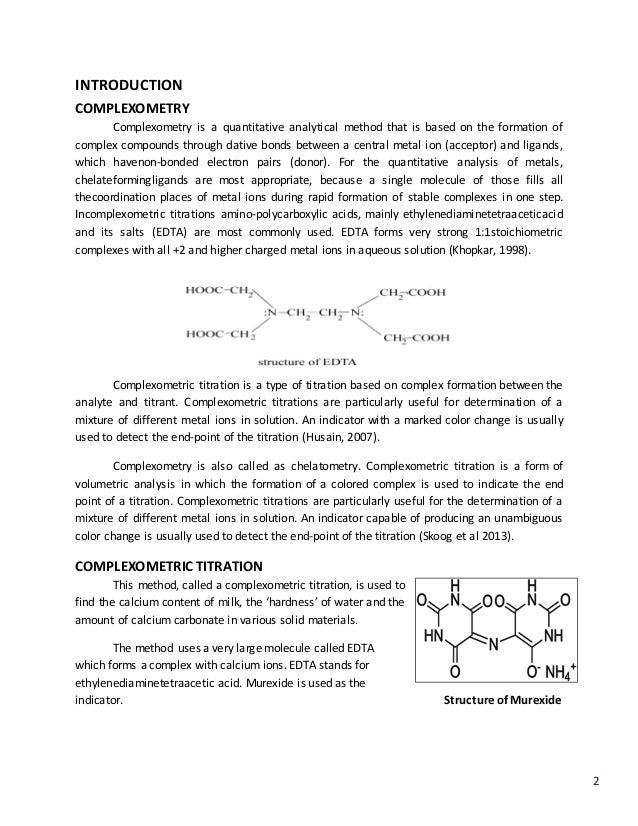determination of calcium and magnesium by edta titration calculations
