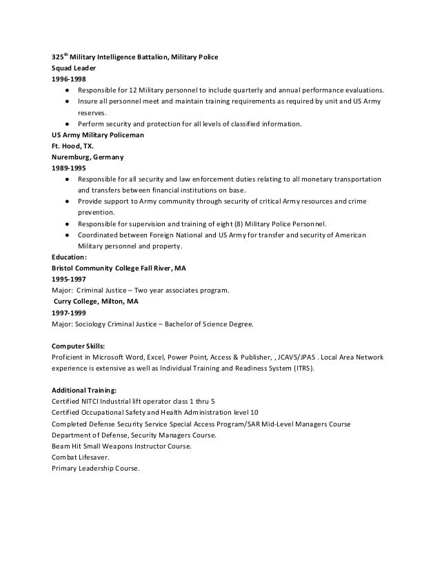 Rubric for Assessment of the Personal Essay military security resume ...