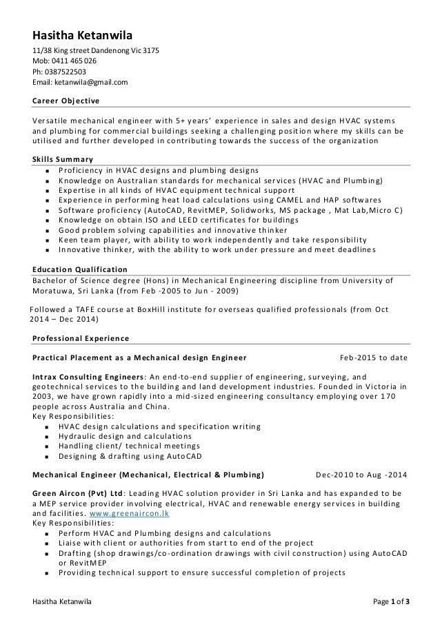 Resume - Hasitha Ketanwila