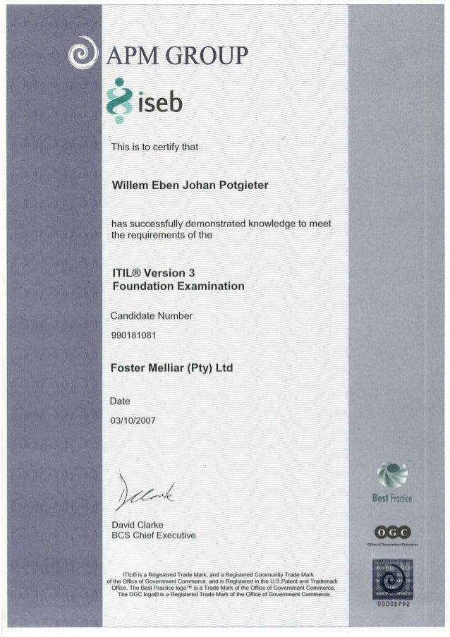 Apm group v3 foundation exam certificate yelopaper Gallery