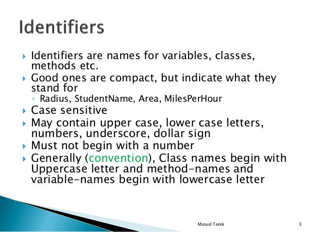 By Convention Class Names Begin With An Uppercase Letter