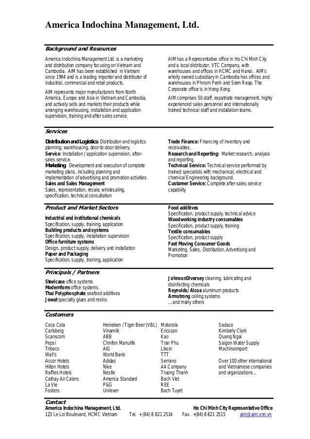 AIM Company Profile