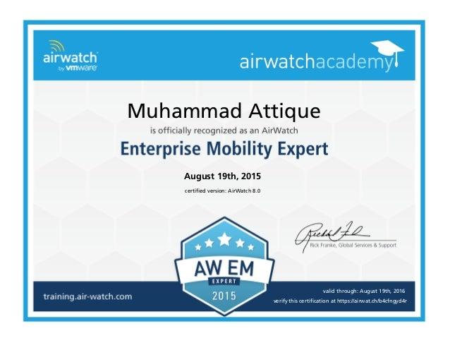 airwatch slideshare emm cert expert upcoming