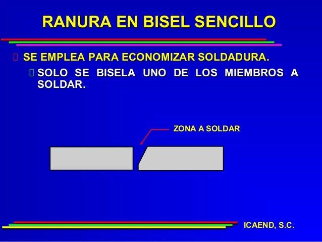 RANURA EN BISEL SENCILLOSE EMPLEA PARA ECONOMIZAR SOLDADURA.  SOLO SE BISELA UNO DE LOS MIEMBROS A  SOLDAR.               ...