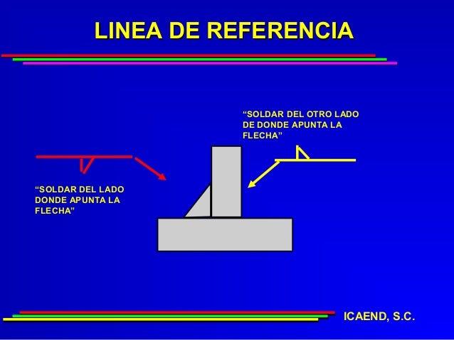 """LINEA DE REFERENCIA                    """"SOLDAR DEL OTRO LADO                    DE DONDE APUNTA LA                    FLEC..."""