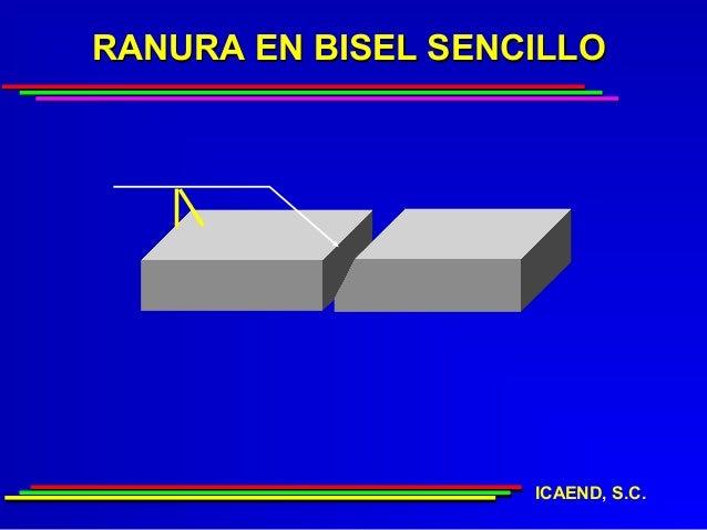 RANURA EN BISEL SENCILLO                    ICAEND, S.C.