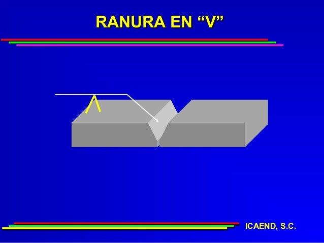 """RANURA EN """"V""""                ICAEND, S.C."""