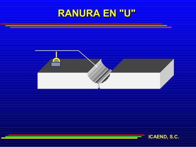 "RANURA EN ""U""                ICAEND, S.C."