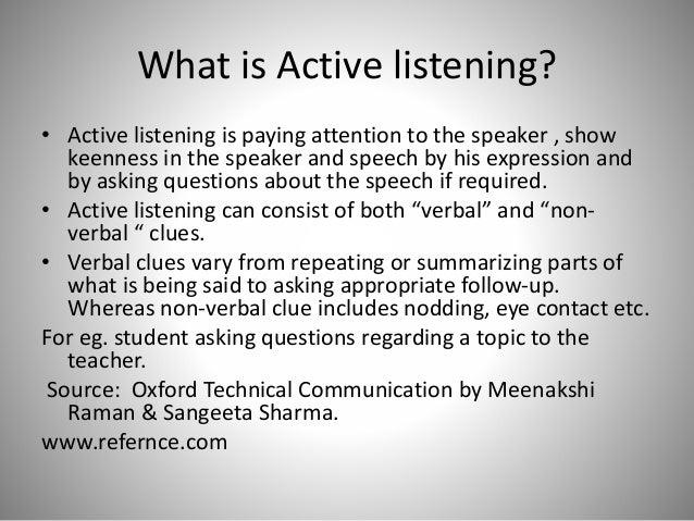 passive listening