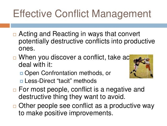 Functional Conflict vs Dysfunctional Conflict - Assignment Example