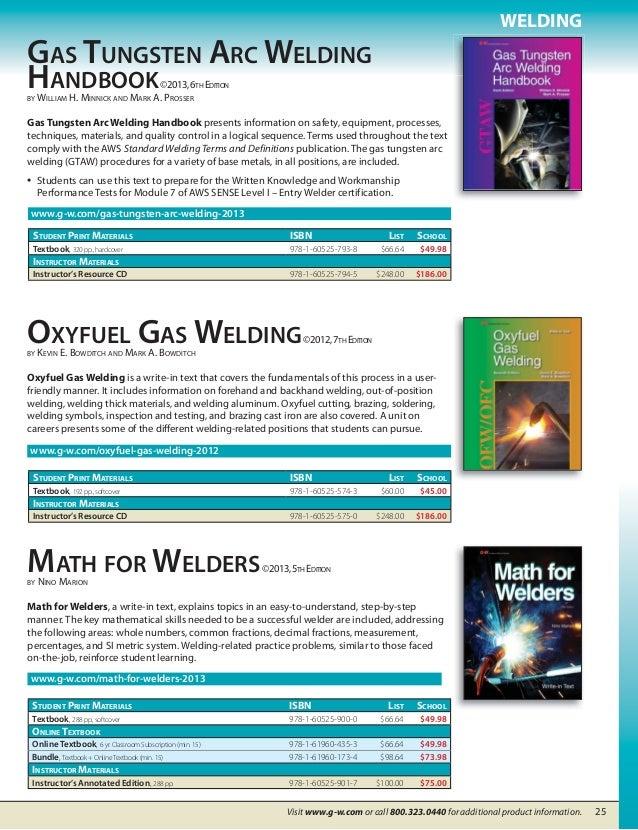 gas tungsten arc welding handbook 6th edition pdf