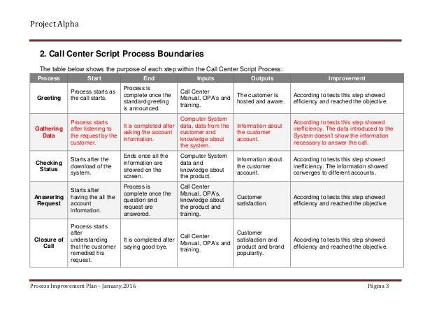 Alpha Case Study - Process Improvement Plan_Sample