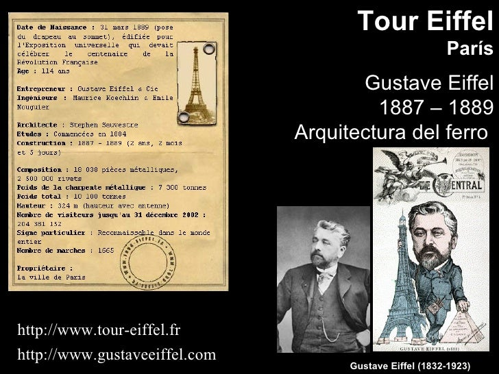 Tour Eiffel                                                          París                                       Gustave E...